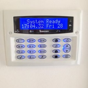 Texecom Diamond White Flush Keypad